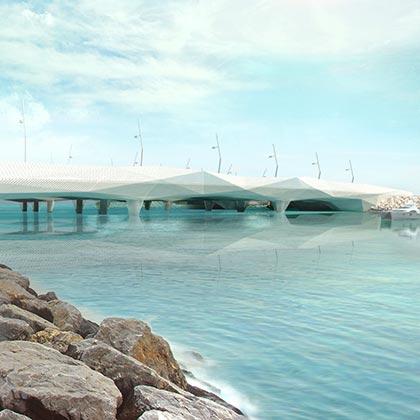 Architecture project - bridge in Bahrein