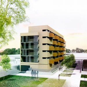 architecture project -housing in madrid